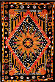 modtradindia celestial sun moon stars planet tapestry indian hippie wall hanging bohemian bedspread
