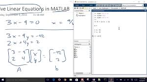 solving linear system of equations with matlab solve y50 transistor resistors diagram electrical