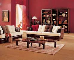 indian living room furniture. living room comfortable warm decorating ideas with red walls and wooden furniture wall art sisal indian
