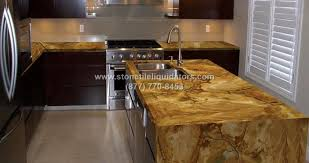 stone wood polished granite kitchen countertop