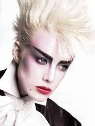 agyness deyn punk makeup and 80s punk on