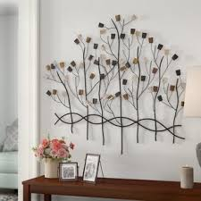 metal jeweled forest wall decor on jewelled metal tulip wall art with jeweled wall decor wayfair