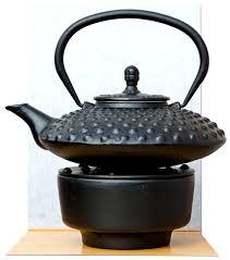 warmer tetsubin japanese style cast iron black big hobnail tea pot kettle 0 8 litre