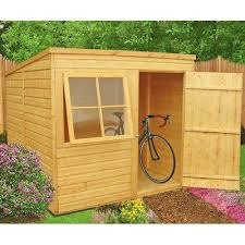 free delivery 7 x 5 pent overlap wooden garden shed with windows product description 7ft x 5ft overlap pent wooden shed this 7ft x 5ft 2 13 x