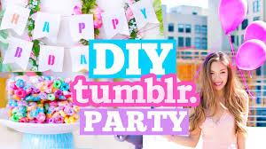 Diy Birthday Decorations Diy Tumblr Birthday Party Cute Decor Snacks Outfit Ideas