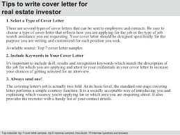 Paralegal Cover Letter Template Real Estate Investor Cover Letter