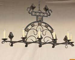 1558 10 spanish style wrought iron chandelier
