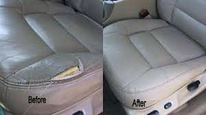 repair leather seat in car tear cost