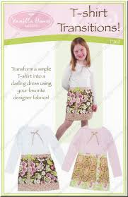Designer Sewing Patterns Amazing TShirt Transitions Sewing Pattern From Vanilla House Designs