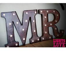 ... Metal Marquee Words 35cm high ...