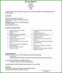Nursing Student Resume Sample Unusual Nursing Student Resume Clinical Experience That Get