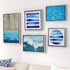 water tide gallery 5 piece framed graphic art print set on canvas on coastal wall art near me with 4 piece coastal wall art you ll love wayfair