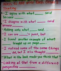 Ela Anchor Charts Ways To Add Onto Each Others Thinking