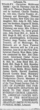 Obituary for Christine Millicent TEASLEY Smith (Aged 69) - Newspapers.com
