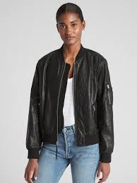 paper leather er jacket