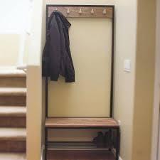 Diy Coat Rack Bench Foyer Coat Rack Bench Entryway Storage Valet With Hanger Shoe 71