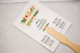 Wedding Program Fans Cheap Fan Wedding Programs