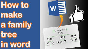How To Make A Family Tree Chart On Microsoft Word How To Make A Family Tree In Word 2013 New Version In Desc Youtube