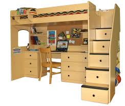 fresh free loft bed with desk plans best design ideas