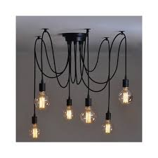 alfie lighting al 6sp 6 light suspension spider pendant ceiling light in black finish