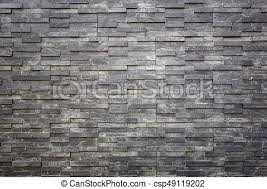 black slate texture. Black Slate Wall Texture And Background. Interior Or Exterior Decoration - Csp49119202 R