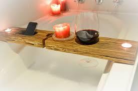 bathtub table tray beautiful design on wooden amazing bathroom