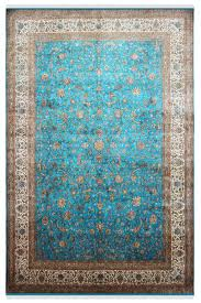 turq jewel handknotted silk area rug