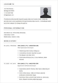 Sample Resume Simple Best Simple R Resume Cover Letter Example Examples Of Resumes