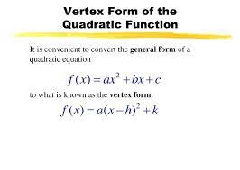 what is vertex form example get