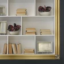 wall mounted bookcase in geloton wood