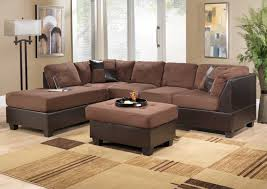 striped sofas living room furniture. Stunning Brown Living Room Furniture Decorating Ideas Microfiber Sectional Sofa Square Ottoman Coffee Table Beige Striped Sofas