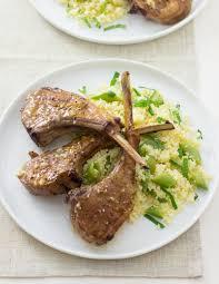 Lemon Garlic Lamb Chops With Mint Couscous Jill Silverman Hough