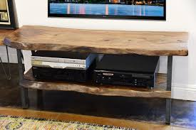 live edge tv stand. Exellent Stand Industrial Modern Live Edge Slab TV Stand To Tv E