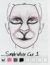 simple white cat makeup sketch