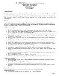 Sap Abap Resume A Good Resume Example