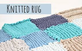 How To Knit A Rug Knitted Rug Tutorial Make Your Own Rug Youtube