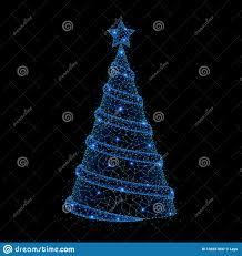 Mesh Christmas Tree Light Covers Low Poly Christmas Tree Stock Illustration Illustration Of