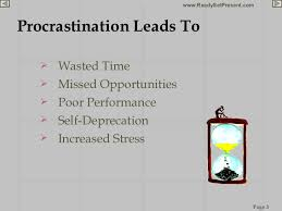procrastination powerpoint procrastination