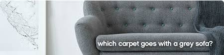 which carpet goes with a grey sofa