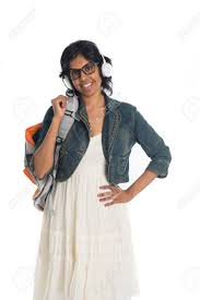Indian Teenage College Girl Stock Photo Picture And Royalty Free