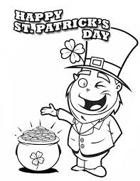 Small Picture A Happy Leprechaun Found Pot of Gold on St Patricks Day Coloring