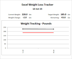Weight Loss Chart Template 9 Free Word Excel Pdf Format