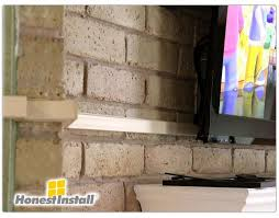 how to hang a tv on a brick fireplace best of mercial work honest install tv