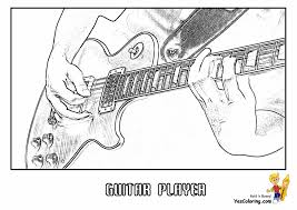 Funny animated guitar coloring page. Gritty Guitar Coloring 22 Free Electric Guitar Instrument Coloring