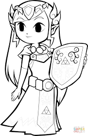 toon link coloring pages.  Coloring Toon Link Coloring Pages Princess Zelda Page Free Printable  On On C