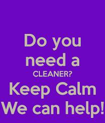 Do You Need A Cleaner Keep Calm We Can Help Poster Kari Mcburnie