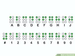 Braille Numbers Chart 1 100 4 Ways To Read Braille Wikihow