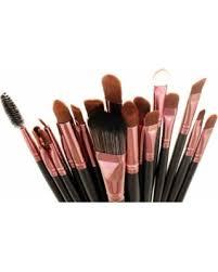 brush sets. zoe ayla 20-piece professional makeup brush sets, pink, brown sets