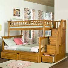 Bedroom: Mesmerizing White Loft Bunk Bed For Girls With Slide Featuring  Soft Purple Castle Tent