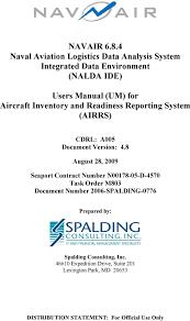 Navair Naval Aviation Logistics Data Analysis System
